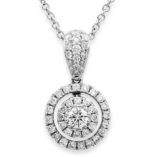 0.51ct. diamond pendant set with diamond in cluster pendant smallest Image