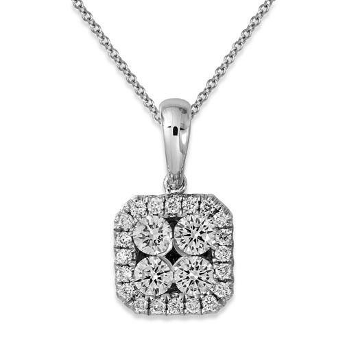 0.34ct. diamond pendant set with diamond in cluster pendant smallest Image