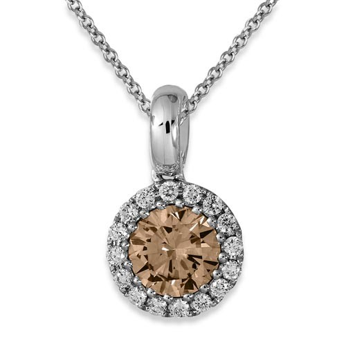 0.13ct. diamond pendant set with diamond in cluster pendant smallest Image