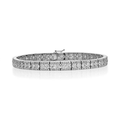 6.19ct. diamond bracelet set with diamond in tennis bracelet smallest Image
