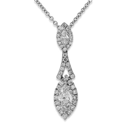 0.22ct. diamond pendant set with diamond in cluster pendant smallest Image
