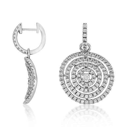 1.61ct. diamond earrings set with diamond in drop earrings smallest Image
