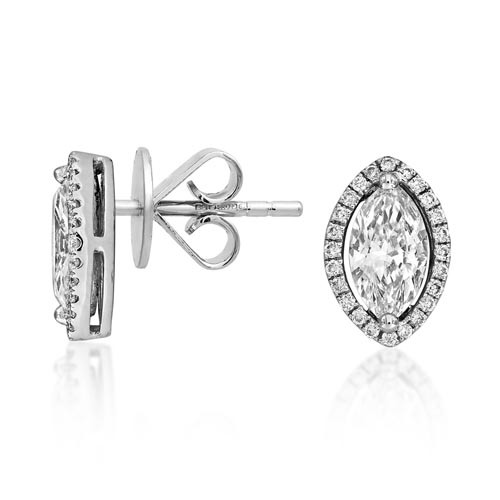 1.2ct. diamond earrings set with diamond in cluster earrings smallest Image