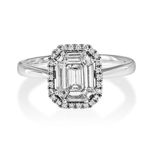 0.73ct. diamond ring set with diamond in cluster ring smallest Image