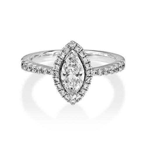 0.98ct. diamond ring set with diamond in cluster ring smallest Image