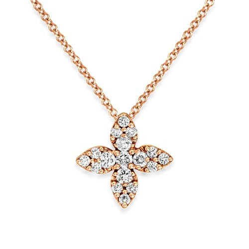 0.2ct. diamond pendant set with diamond in cluster pendant smallest Image