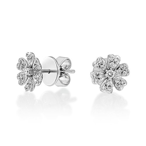 0.18ct. diamond earrings set with diamond in fancy earrings smallest Image
