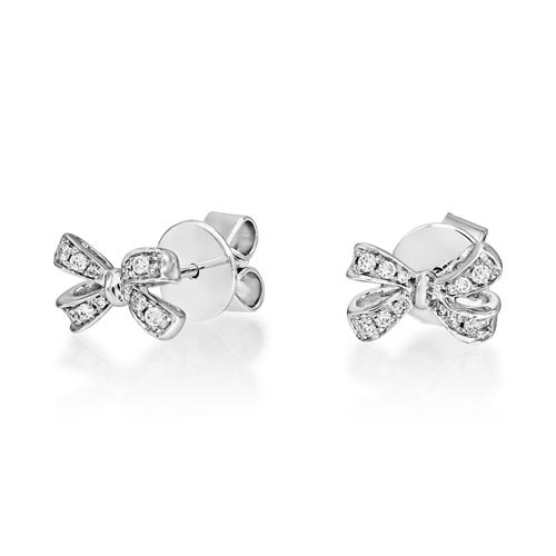 0.12ct. diamond earrings set with diamond in fancy earrings smallest Image