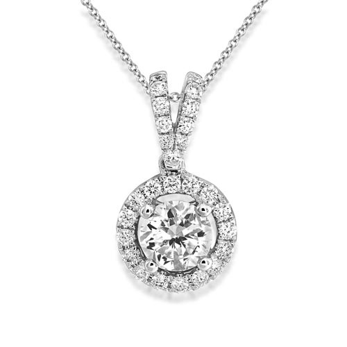 0.62ct. diamond pendant set with diamond in cluster pendant smallest Image