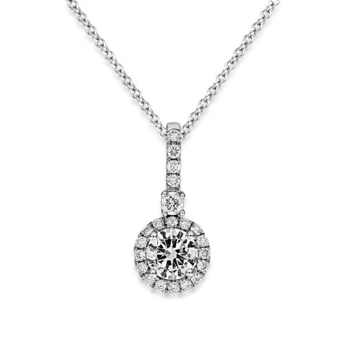 0.23ct. diamond pendant set with diamond in cluster pendant smallest Image