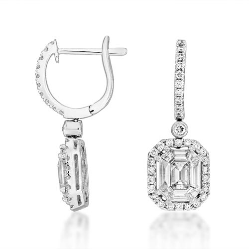 1.5ct. diamond earrings set with diamond in drop earrings smallest Image