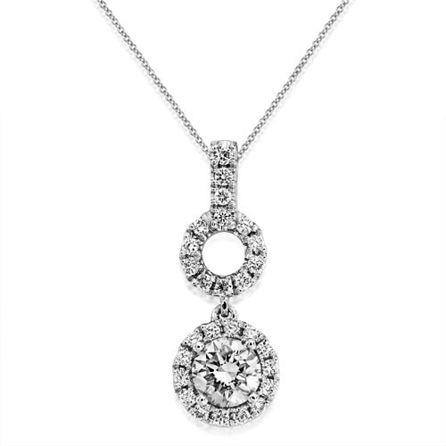 0.61ct. diamond pendant set with diamond in cluster pendant smallest Image