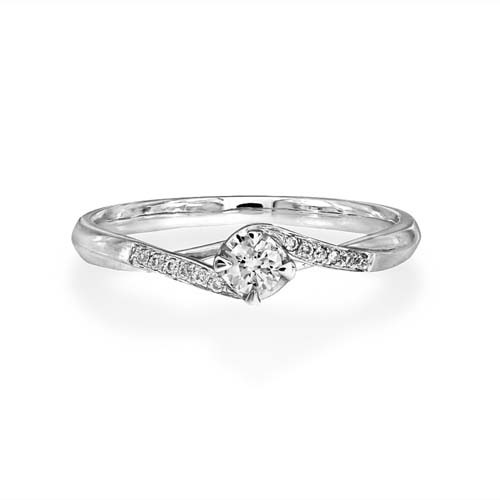 0.15ct. diamond ring set with diamond in shoulder set ring smallest Image