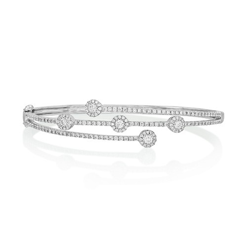 1.69ct. diamond bangle set with diamond in fancy bangle smallest Image