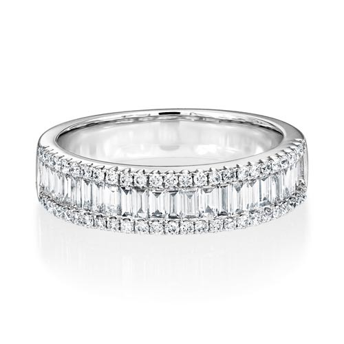 0.7ct. diamond ring set with diamond in wide band ring smallest Image