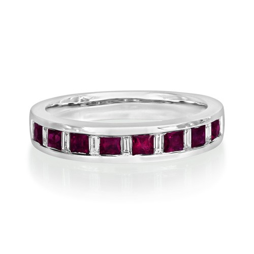 ruby ring 0.64ct. set with diamond in eternity ring smallest Image