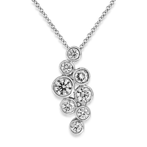 0.5ct. diamond pendant set with diamond in fancy pendant smallest Image