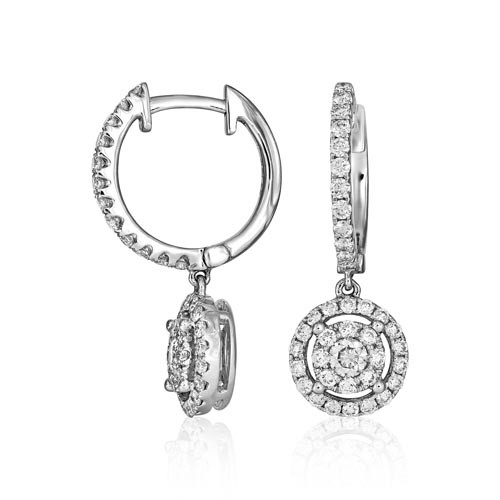 0.86ct. diamond earrings set with diamond in drop earrings smallest Image