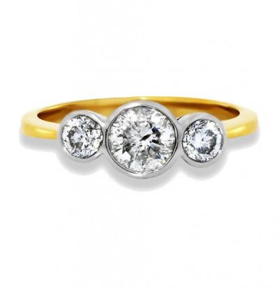0.42ct. diamond ring set with diamond in three stone ring smallest Image
