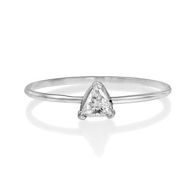 0.15ct. diamond ring set with diamond in solitaire ring smallest Image