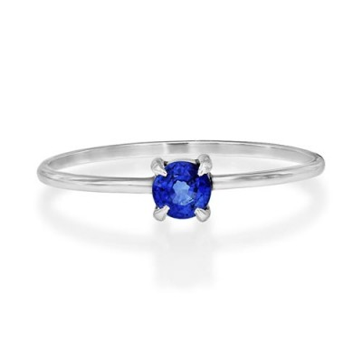 0.29ct. sapphire ring set in solitaire ring smallest Image