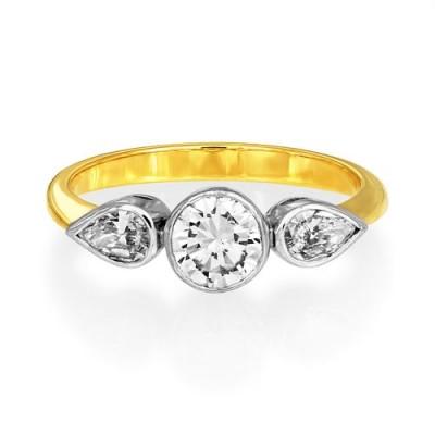 1.07ct. diamond ring set with diamond in three stone ring smallest Image