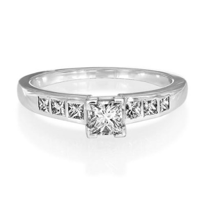 0.25ct. diamond ring set with diamond in shoulder set ring smallest Image