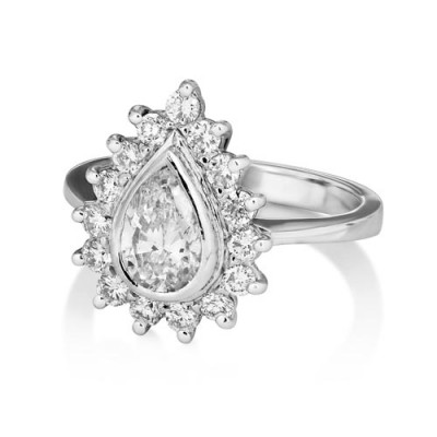 0.58ct. diamond ring set with diamond in cluster ring smallest Image