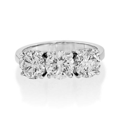 3.13ct. diamond ring set with diamond in three stone ring smallest Image