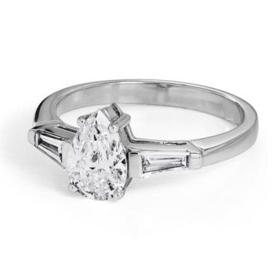 1.32ct. diamond ring set with diamond in three stone ring smallest Image