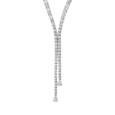 21.74ct. diamond necklace set with diamond in tennis necklace smallest Image