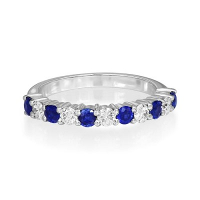 sapphire ring 0.63ct. set with diamond in eternity ring smallest Image