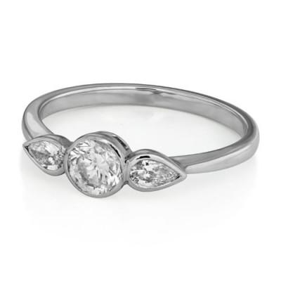 0.88ct. diamond ring set with diamond in three stone ring smallest Image