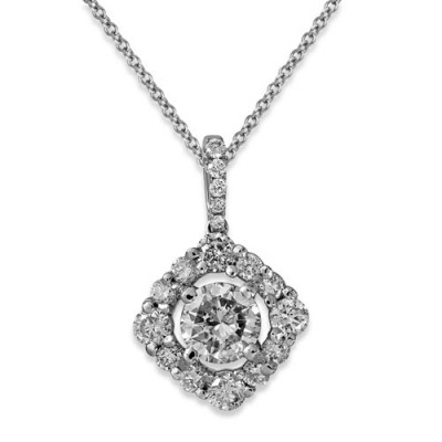 1.53ct. diamond pendant set with diamond in cluster pendant smallest Image