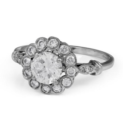 1.1ct. diamond ring set with diamond in cluster ring smallest Image