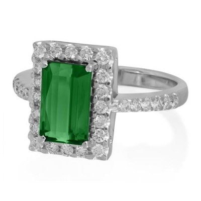 tourmaline ring 2.11ct. set with diamond in cluster ring smallest Image