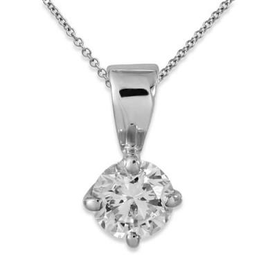 0.32ct. diamond pendant set with diamond in solitaire pendant smallest Image