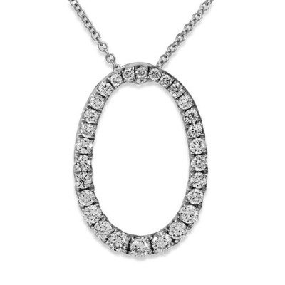 0.36ct. diamond pendant set with diamond in cluster pendant smallest Image