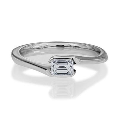0.38ct. diamond ring set with diamond in solitaire ring smallest Image