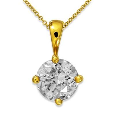 1.02ct. diamond pendant set with diamond in solitaire pendant smallest Image