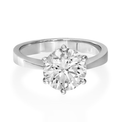 3.04ct. certified diamond ring set with diamond in solitaire ring smallest Image