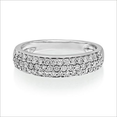 0.52ct. diamond ring set with diamond in wide band ring smallest Image