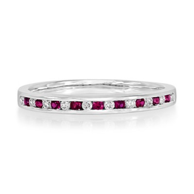ruby ring 0.12ct. set with diamond in eternity ring smallest Image