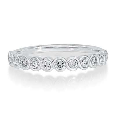 0.33ct. diamond ring set with diamond in eternity ring smallest Image