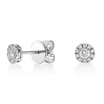 0.36ct. diamond earrings set with diamond in cluster earrings smallest Image