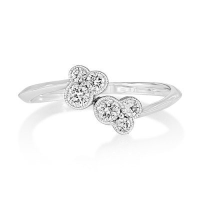 0.32ct. diamond ring set with diamond in fancy ring smallest Image