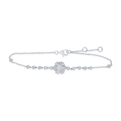 0.72ct. diamond bracelet set with diamond in line bracelet smallest Image