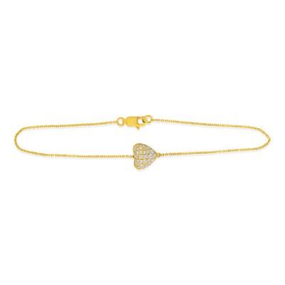 0.29ct. diamond bracelet set with diamond in line bracelet smallest Image