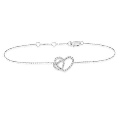 0.39ct. diamond bracelet set with diamond in line bracelet smallest Image