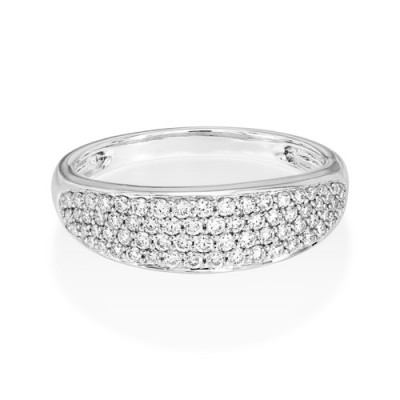 0.47ct. diamond ring set with diamond in wide band ring smallest Image